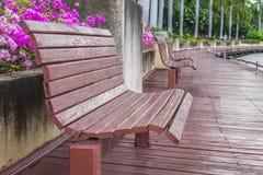 usiądź, drewniany Zdjęcia Royalty Free
