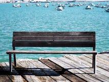 usiądź, drewniany Fotografia Royalty Free