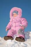 usiądź dziecko snow hill Zdjęcie Royalty Free