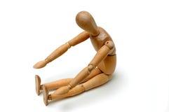 usiądź reach figurka zdjęcie royalty free