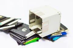 Usi creativi per il floppy disk obsoleto fotografie stock libere da diritti