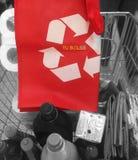 Usi il riciclaggio delle borse fotografia stock