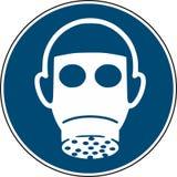 Usi la protezione delle vie respiratorie - l'iso obbligatorio 7010 del segno royalty illustrazione gratis