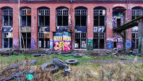 Usine abandonnée Photo libre de droits