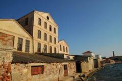Usine abandonnée d'huile d'olive, Ayvalik, Turquie Images libres de droits