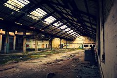 Usine abandonnée - Ecosse Photo libre de droits