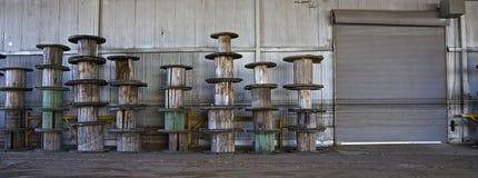 Usine abandonnée en métal Photographie stock libre de droits