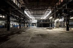 Usine abandonnée - Ferry Cap & Screw Company - Cleveland, Ohio photos stock