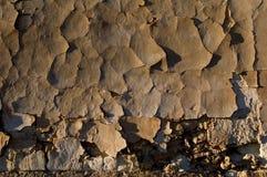 Usine abandonnée - murez la texture, plâtre criqué Images libres de droits