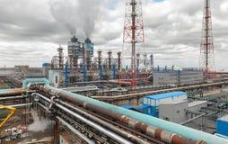 Usine chimique pour la production du fertilizat d'ammoniaque et d'azote Photos stock