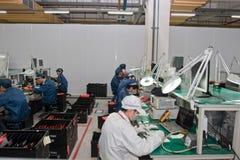 Usine chinoise produisant des ordinateurs portables Photo libre de droits
