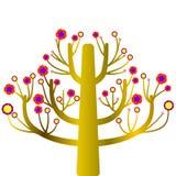 Usine colorée de croissance d'arbre Photographie stock libre de droits