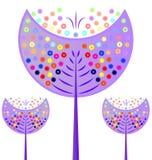 Usine colorée de croissance d'arbre illustration stock