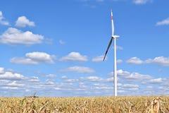 Usine d'énergie éolienne dans Alibunar, Serbie Photos libres de droits