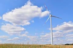 Usine d'énergie éolienne dans Alibunar, Serbie Photo stock