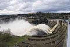 Usine d'énergie hydroélectrique image stock