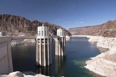 Usine d'énergie hydroélectrique de barrage de Hoover Photos stock