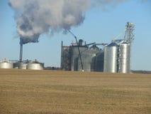 Usine d'éthanol de maïs Image libre de droits
