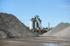 Usine d'asphalte image stock