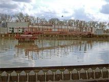 Usine d'eaux usées Photographie stock libre de droits