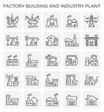Usine d'industrie d'usine illustration stock