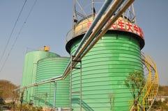Usine d'ingénierie de biogaz Photographie stock