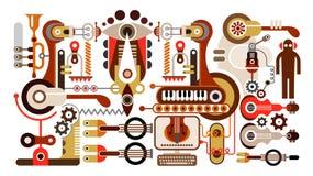 Usine d'instrument musical illustration stock