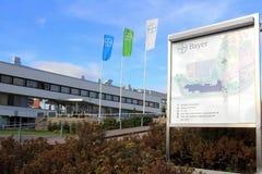 Usine de Bayer à Turku, Finlande Photos libres de droits