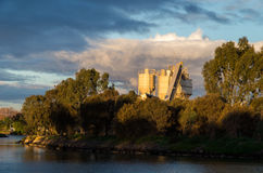 Usine de brique dans Footscray Image libre de droits