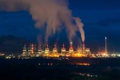 Usine de centrale à charbon de Mae Moh dans Lampang, Thaïlande photographie stock libre de droits