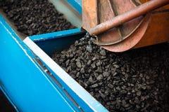 Usine de charbon dans un jour très chaud Photo stock