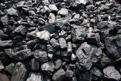 Usine de charbon dans un jour très chaud Photographie stock