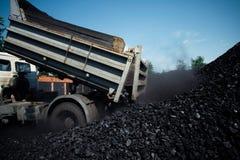 Usine de charbon dans un jour très chaud Photo libre de droits