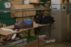 Usine de chaussure photo stock