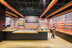 Usine de chocolat, boutique photos stock