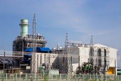 Usine de courant électrique de turbine à gaz Image stock