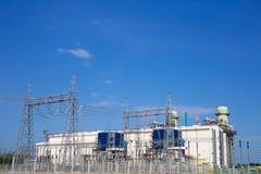 Usine de courant électrique de turbine à gaz Photos libres de droits