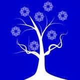 Usine de croissance d'hiver d'arbre illustration de vecteur