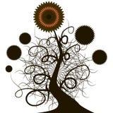 Usine de croissance de sunflowerl d'arbre illustration stock