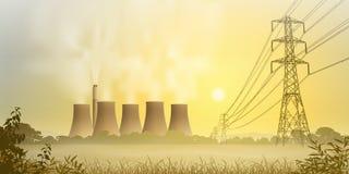 Usine de l'électricité Photos stock