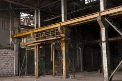Usine de Moscou pendant la démolition Image stock