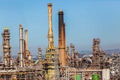 Détail d'usine de raffinerie de mazout Image libre de droits