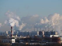 Usine de nuage dans la ville image libre de droits