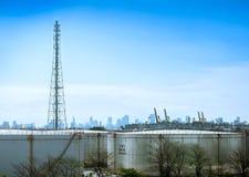 Usine de produit chimique et de pétrole Image stock