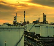 Usine de produit chimique et de pétrole Photo libre de droits