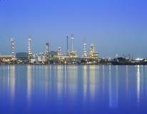 Usine de produit chimique et de pétrole Images libres de droits