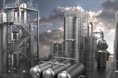Usine de produit chimique et de pétrole illustration de vecteur