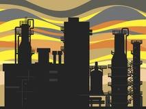 Usine de produit chimique et de pétrole Image libre de droits