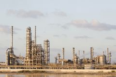 Usine de produits pétrochimiques Photos libres de droits