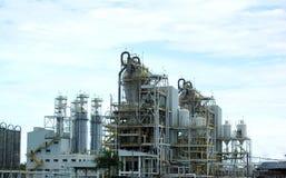 Usine de raffinerie de gaz Photographie stock libre de droits